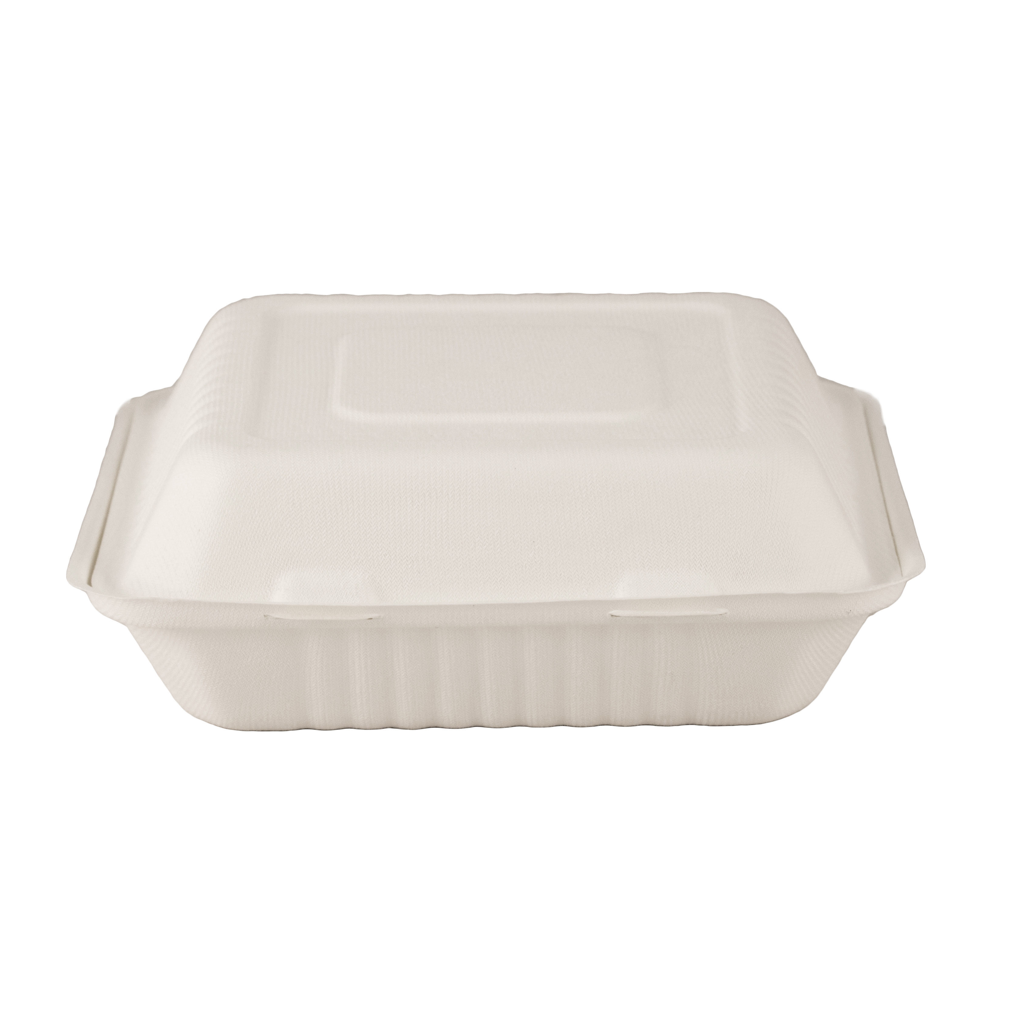 Take-Out Container, 9 x 9, 3-Comp, Sugarcane fiber, Compostable, 200/cs