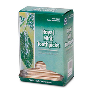 Mint Toothpicks, Individual Wrapped, 10000/box