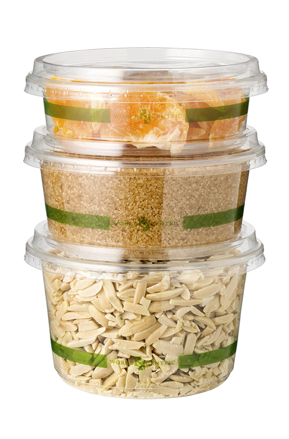 Flat deli container lid, Color: Clear, Material: PLA, Compostable, Fits 8 - 32 oz compostable deli containers, 1000/cs
