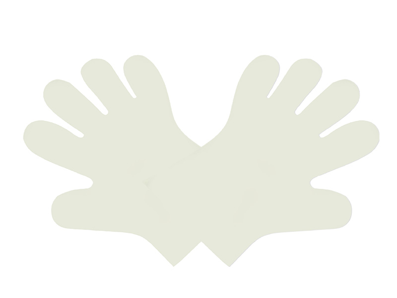 Compostable food handling gloves, Size: medium, Color: clear, 2400/cs