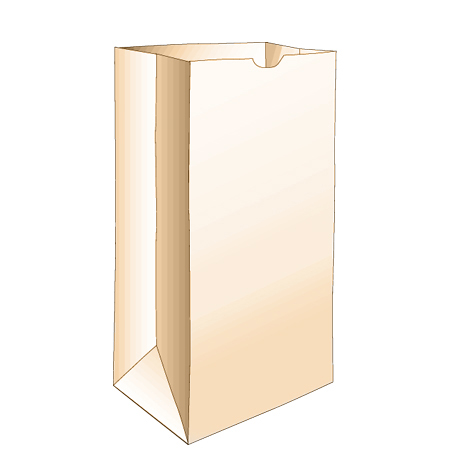 6# Grocery Paper Bag, Size: 6x3.62x11.06, Color: Natural, Made from 100% Recycled Paper, 500/cs