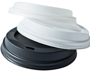 Hot cup dome lid, Color: White, Diameter: 90mm, 1000/cs