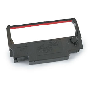 POS printer ribbon, Epson ERC-30/34/38, Black-Red, 6 Per Box