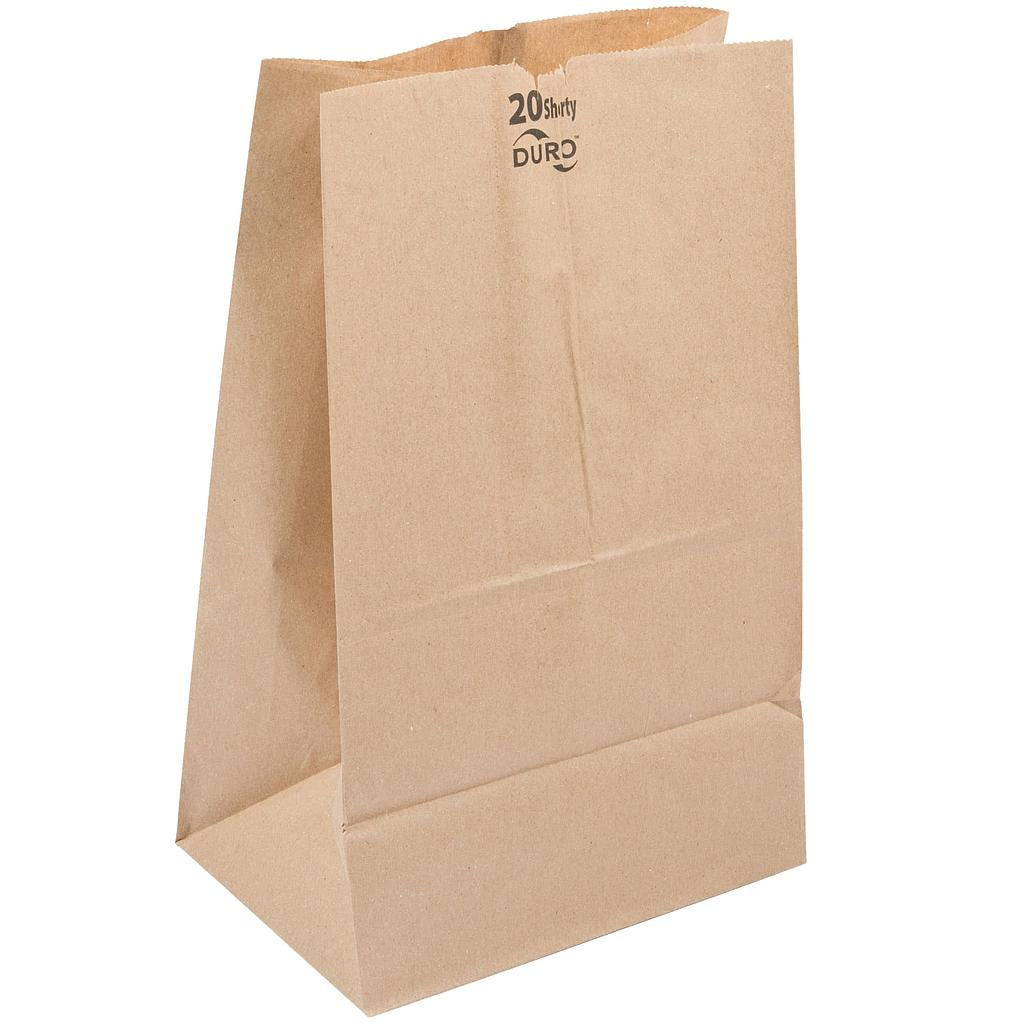 20# Grocery Paper Bag, Size: 8.25x5.94x13.40, Color: Natural, 500/cs