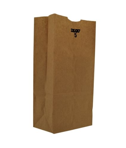 5# Grocery Paper Bag, Size: 5.25x3.44x10.31, Color: Natural, 500/cs