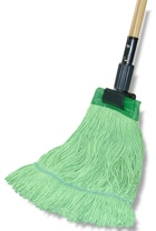 "*SPECIAL ORDER ITEM* Eco-Friendly wet mops, Size: Large (5"" Headband) 100% Certified Recycled Fibers, Made with Renewable Energy, 12 mops/cs *ESTIMATED DELIVERY 6 TO 8 WEEKS* (NOT RETURNABLE)"