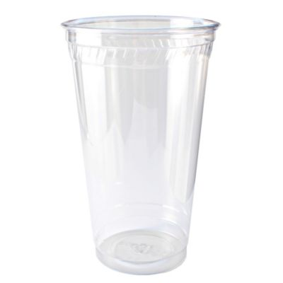 32 oz clear cold cup, Material: PLA, Color: Clear, Compostable, 300/cs