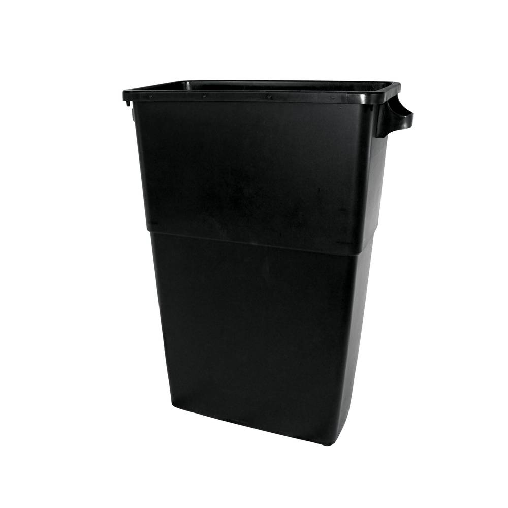 *SPECIAL ORDER ITEM* Black Trash Bin Container, 23 Gallon *ESTIMATED DELIVERY 3 TO 4 WEEKS* (NOT RETURNABLE)