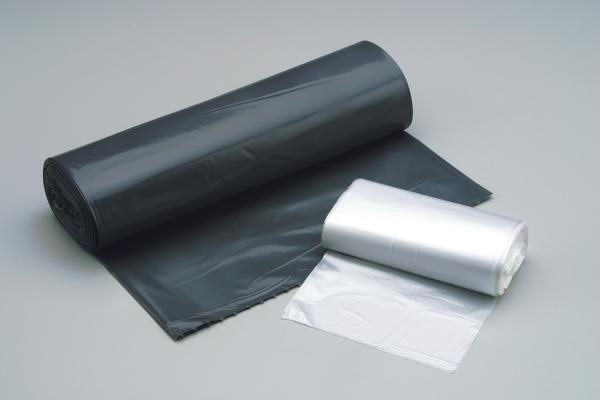 "Can Liner, 38""X58"", 1.5 Mil EQ, Color: Black/Gray, Low Density, 55 - 60 Gallon Capacity, Flat Pack, 100/Cs"