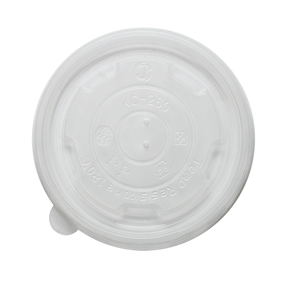 Plastic flat 95mm lid for 8 oz food containers, vented, 1000/cs