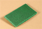 "Scouring pad, heavy-duty, Size: 6""x9"", Color: green, 60/case"