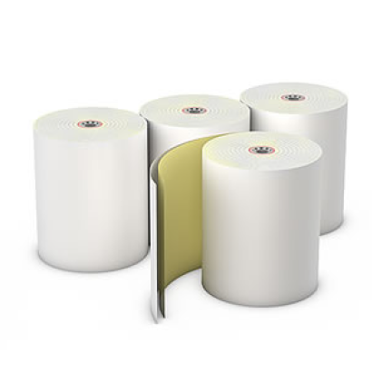 "Register roll, bond paper, 2-ply, color: white-canary, carbonless, size: 3"" x 95', 50/cs"