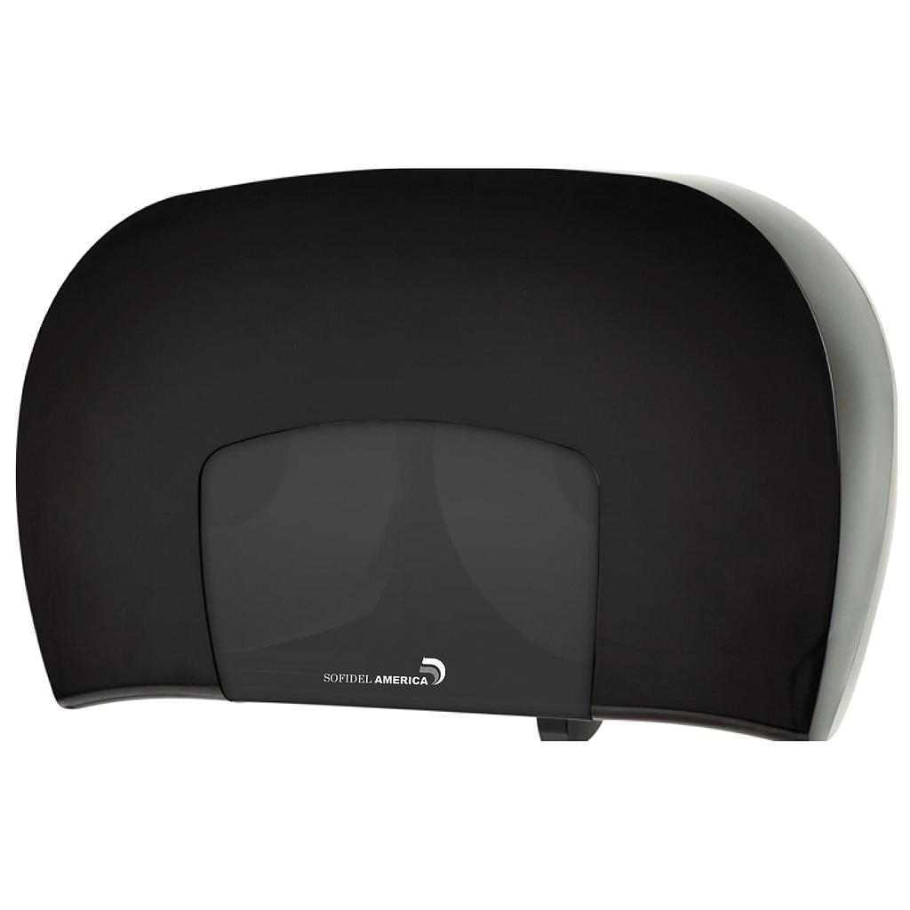 Jumbo bathroom tissue dispenser, twin, HEAVENLY SOFT, Color: Black