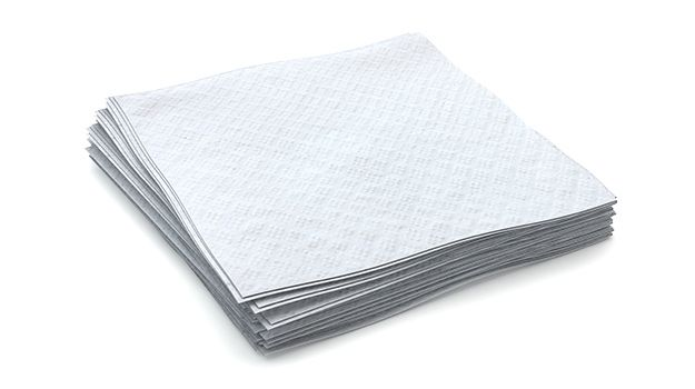 "Beverage napkin, 1-ply, Color: white, Size: 8.5""x8.5"", Made from 100% recycled paper, Compostable, 4000/cs"