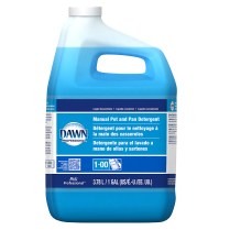Manual pot, pan & dish detergent, DAWN ORIGINAL, Color: Blue, 4x1 gallon/case