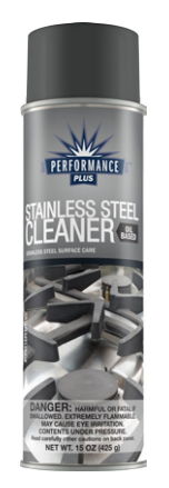 Stainless steel cleaner, oil based, 15 oz aerosol can; 6/cs