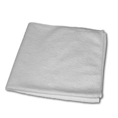 "MICROFIBER CLOTH, Color; White, Size; 16""x 16"", 12/cs"