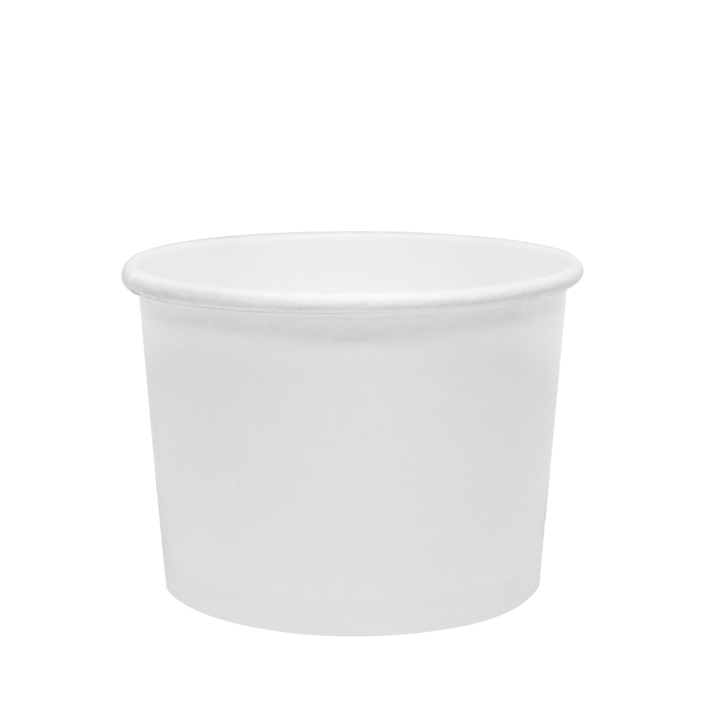 10 oz hot food container, round, paper, Color: White, 1000/cs