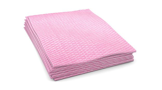"Food Service Towel / Wiper, 1/4 Fold, Size: 12""x21"", Color: Pink, 200/cs"