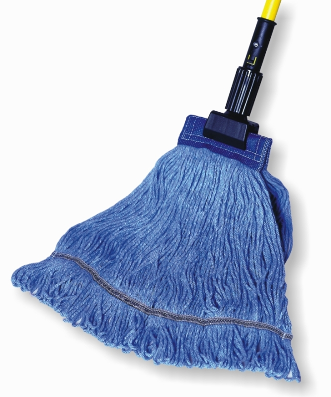 "*SPECIAL ORDER ITEM* Launderable Looped End Wet Mop, Auburn PRO Line KODIAK, Size: Large, 5"" Headband, Color: Blue, 12 Mops/Cs *ESTIMATED DELIVERY 2 TO 4 WEEKS* (NOT RETURNABLE)"
