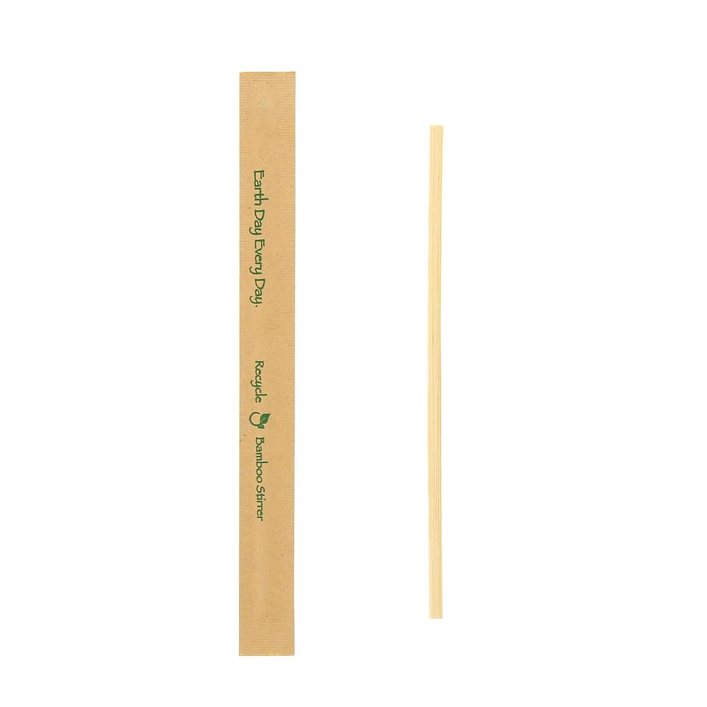 "*SPECIAL ORDER ITEM* Bamboo Stir Sticks, Length: 7"", Material: Kraft Paper Wrapped Bamboo, Color: Natural, Compostable, 5000/cs, Special Order, Non-refundable, 3 week lead time"