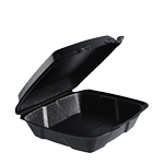 *SPECIAL ORDER ITEM* Take-Out Container, 9.37 x 9 x 3, Foam, Black, 200/cs *SEE DETAILS BELOW*