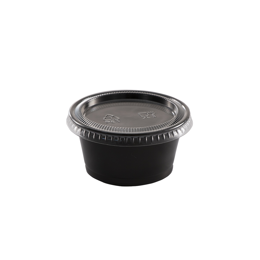 Lid for 0.75oz and 1oz portion cup, clear, flat, Material: plastic, 2500/cs