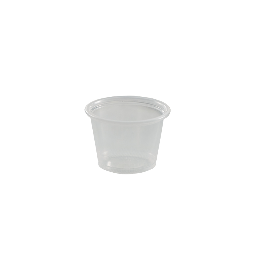 1 oz portion cup, plastic, Color: translucent, 2500/cs