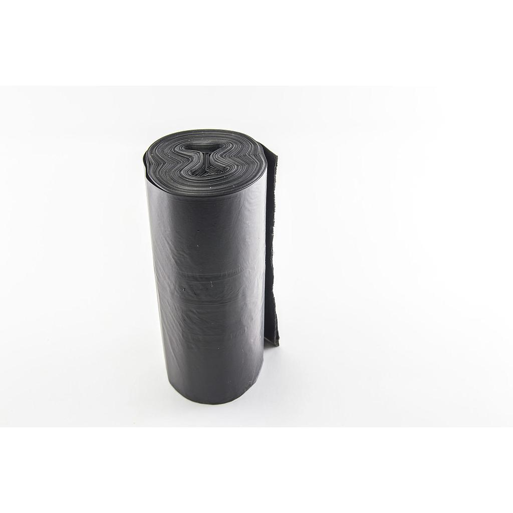 "Can Liner, 38""X58"", 1.5 Mil EQ, Color: Black, Low Density, 60 Gallon Capacity, Perforated Roll, 100/Cs"