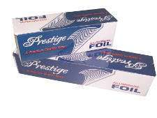 "Aluminum foil in cutterbox, Size: 18"" X 1000', heavy duty, 1 Roll/Box"
