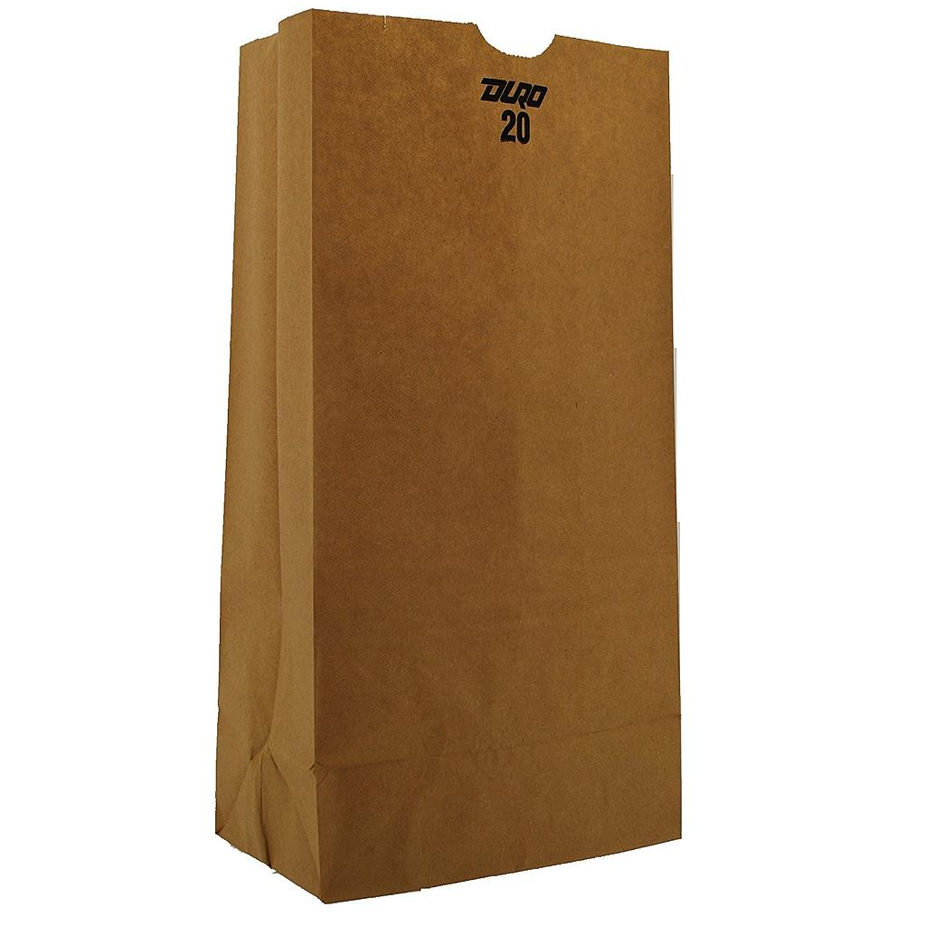 "20# Tall Grocery Paper Bag, Size: 8.25""x5.30""x16.12"", Color: Natural, 500/cs"