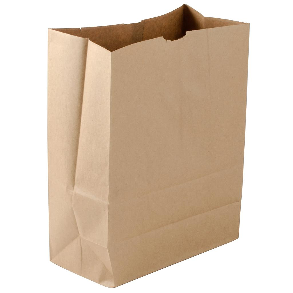 1/6 75# Grocery Sack Paper Bag, Size: 12x7x17, Color: Natural, 400/cs