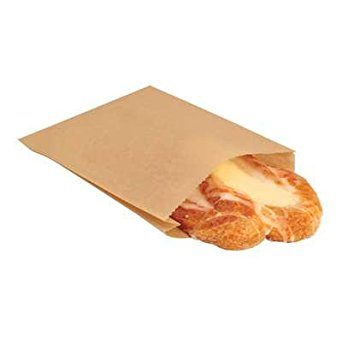 "Pastry/Cookie/Sandwich Bag 6.5""x1""x8"", Color: Natural, Compostable, 2000/cs"