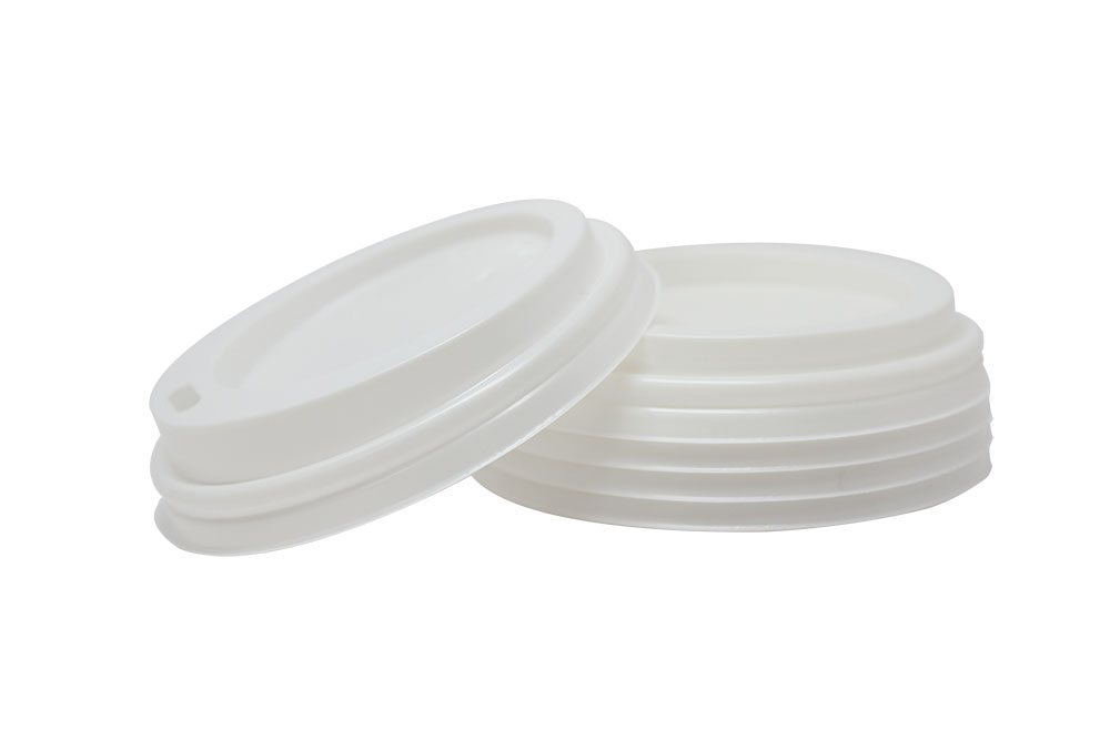 Hot cup dome lid for 8 oz cups, Color: White, 1000/cs