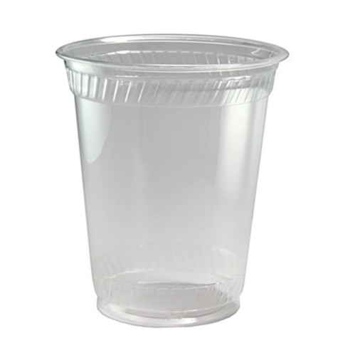 12 oz (14 oz flush fill) PLA cold cup, Color: Clear, Compostable, 1000/cs