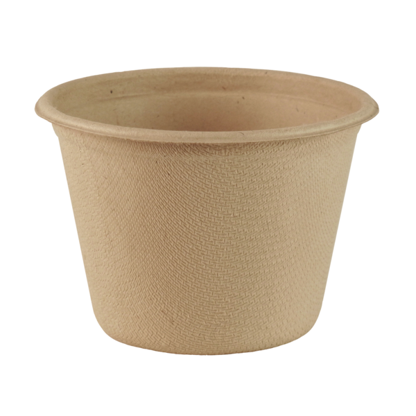 4 oz portion cup, Material: Unbleached plant fiber, Color: Natural, Compostable, 1000/cs