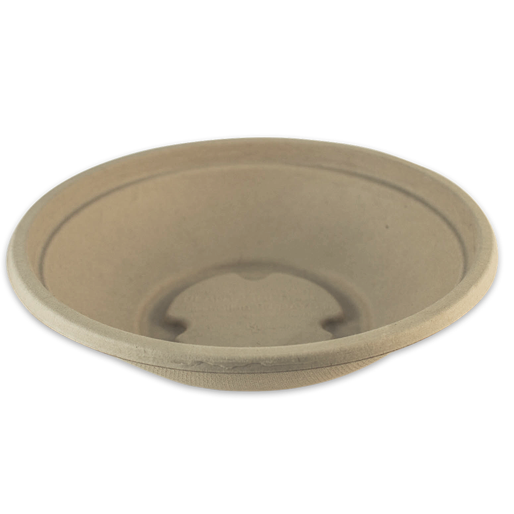 *SPECIAL ORDER ITEM* 16 oz Plant Fiber Bowl, Color: Natural, Compostable, 500/cs *ESTIMATED DELIVERY 4 TO 6 WEEKS* (NOT RETURNABLE)