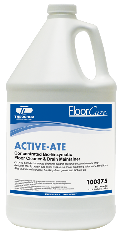 *SPECIAL ORDER ITEM* Bio-Enzymatic Floor Cleaner, Auburn PRO Line, ACTIVE-ATE, concentrated, 1 gallon bottle; 4 bottles/cs *ESTIMATED DELIVERY 4 TO 6 WEEKS* (NOT RETURNABLE)