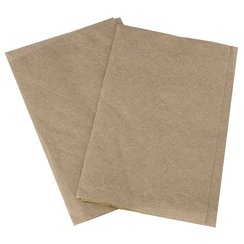"Interfold dispenser napkin, Color: kraft, Material: 2-ply paper, 1/8 Fold, Size: 8""x6.5"", 6000/cs"