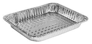 "Half size steam table aluminum pan, Shallow, Size; 12.75""x11.75""x1.69"", Capacity: 84 fl oz, 100/cs"