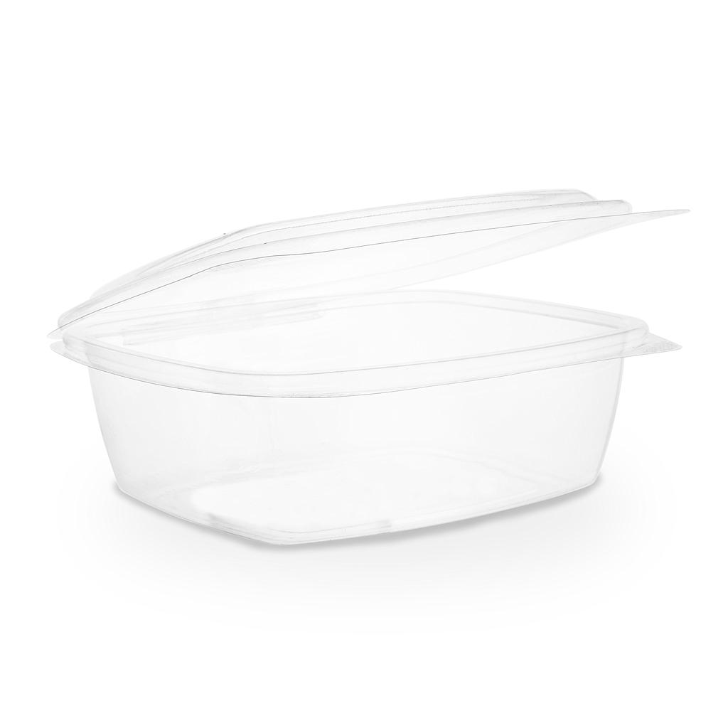 32 oz PLA Hinged Lid Deli Container, Color: Clear, Compostable, 200/cs