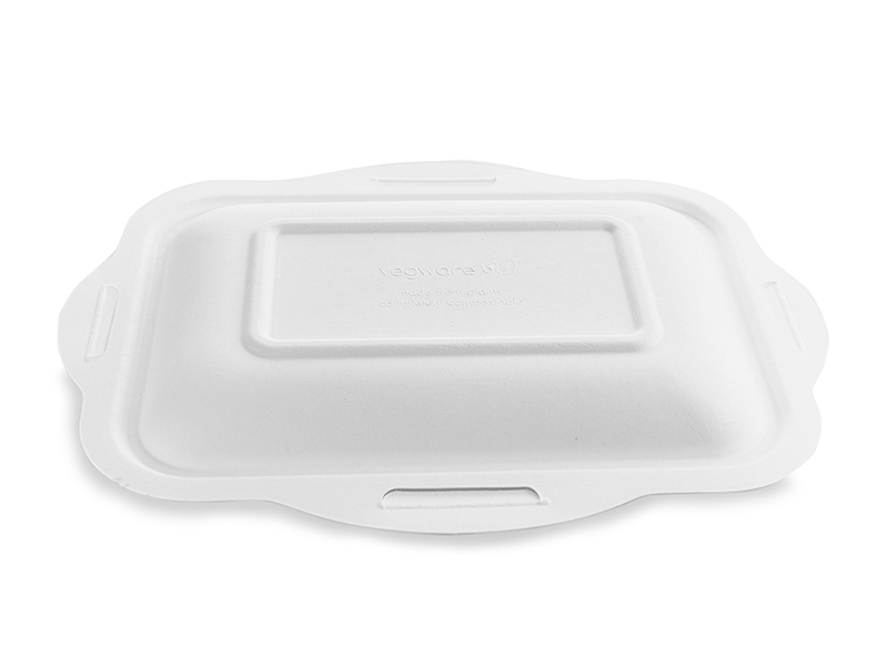 *SPECIAL ORDER ITEM* Size 5 Lid for Bagasse Gourmet Base, Material: Sugarcane, Color: White, Compostable, 600/cs *SEE DETAILS BELOW*