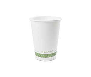 *SPECIAL ORDER ITEM* 32 oz Food Container, Material: PLA paper, Color White w/green stripe, Compostable, 500/cs *SEE DETAILS BELOW*