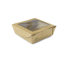 *SPECIAL ORDER ITEM* 22 oz medium window salad box, compostable, 300/cs *SEE DETAILS BELOW*