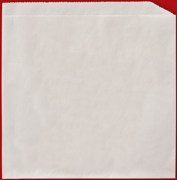 "Side opening paper sleeve, Size: 7""x6.75"", Color: White, Compostable, 8,000/cs"