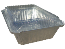 Foil Laminated Board Lid for 2.25 lb oblong, aluminium bulk pan food container, 500/cs