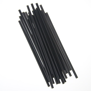 "Semi Slim Straw/Stirrer, Unwrapped, Size: 7.75"", Color: Black, 5000/cs"