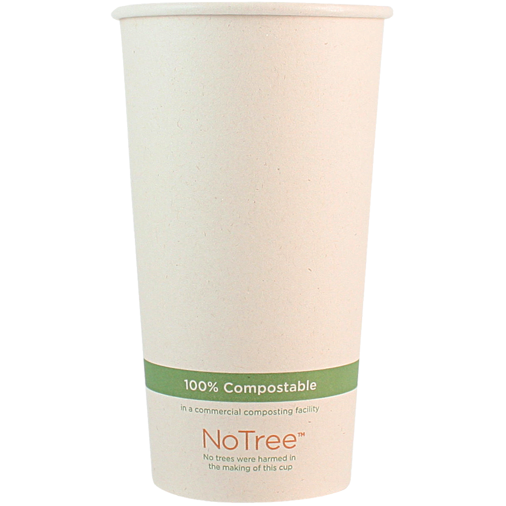 20 oz NoTree Paper Hot or Cold Cup, Compostable, 1000/cs