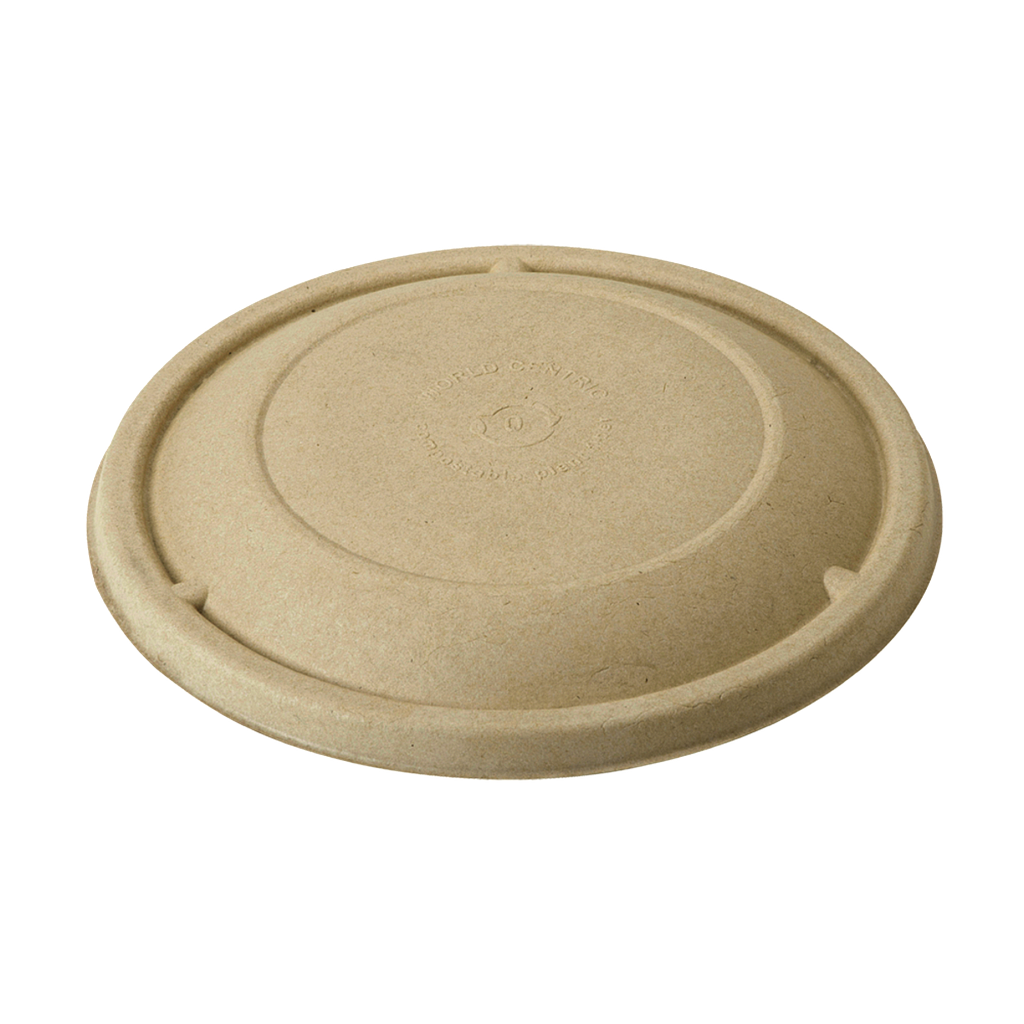 *SPECIAL ORDER ITEM* Fiber Lid for 16-32 oz plant fiber bowl, Color: Natural, Compostable, 300/cs *ESTIMATED DELIVERY 4 TO 6 WEEKS* (NOT RETURNABLE)