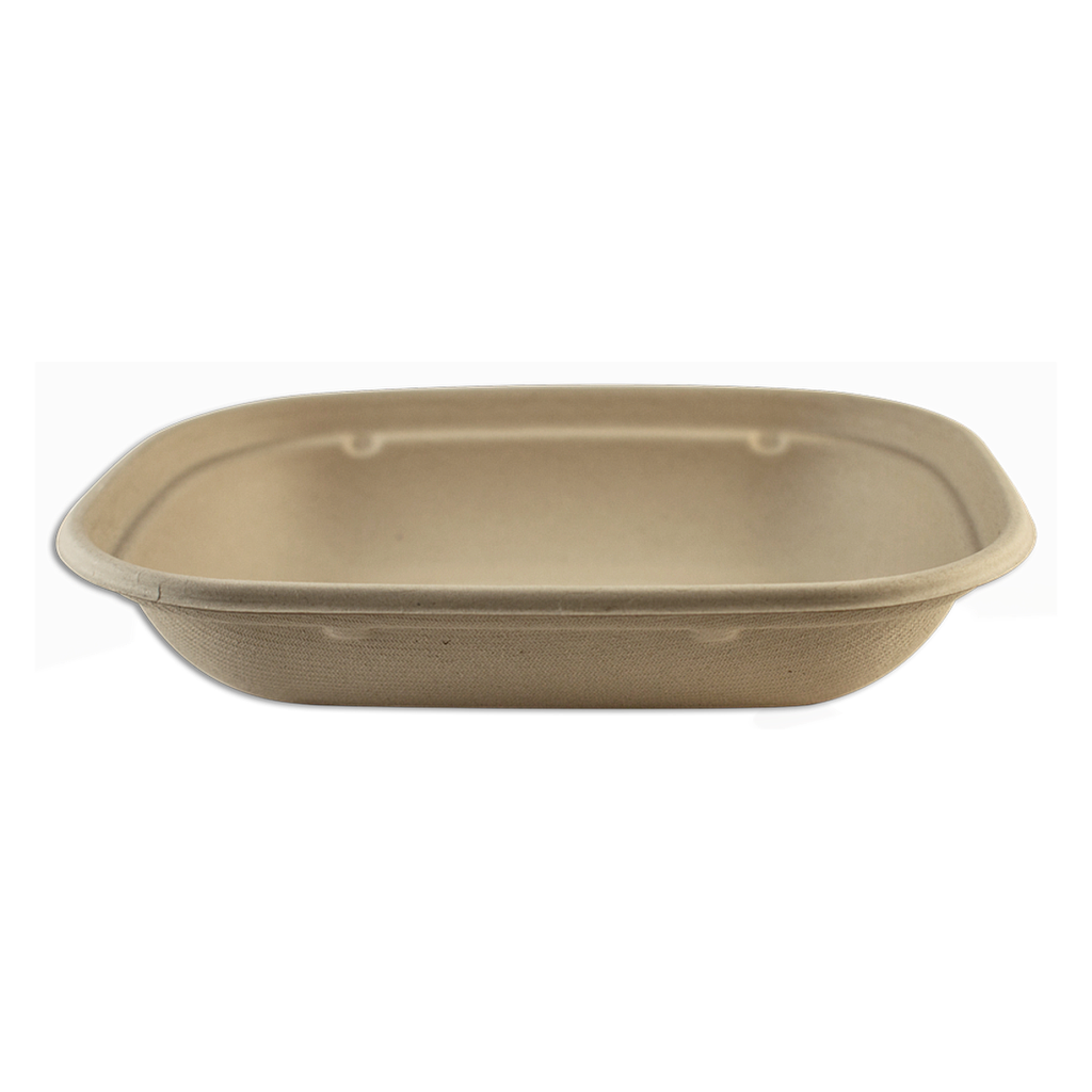 "*SPECIAL ORDER ITEM* 17 oz Fiber Tray, Size: 8""x6""x1.5"", Material: Unbleached Plant Fiber, Color: Natural, Compostable, 400/cs * SEE DETAILS BELOW"